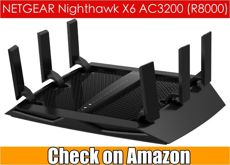 NETGEAR Nighthawk X6 AC3200 Tri-Band Gigabit WiFi Router (R8000)