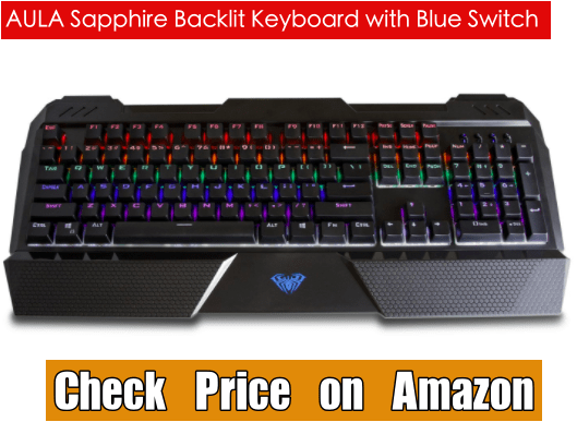 AULA Sapphire Backlit Keyboard with Blue Switch